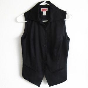 Express Career Vest Black Silk Blend Small